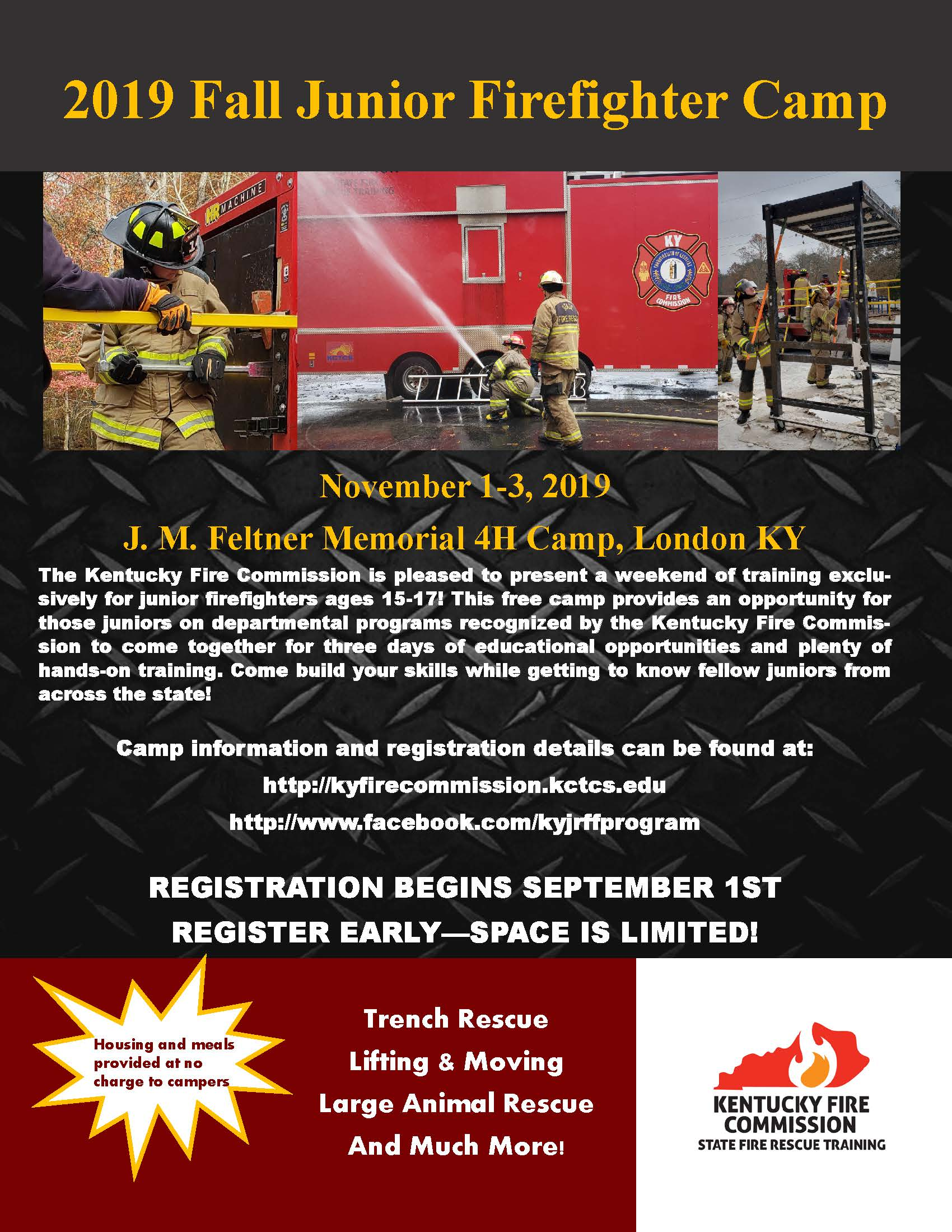 November 2019 Junior Firefighter Camp