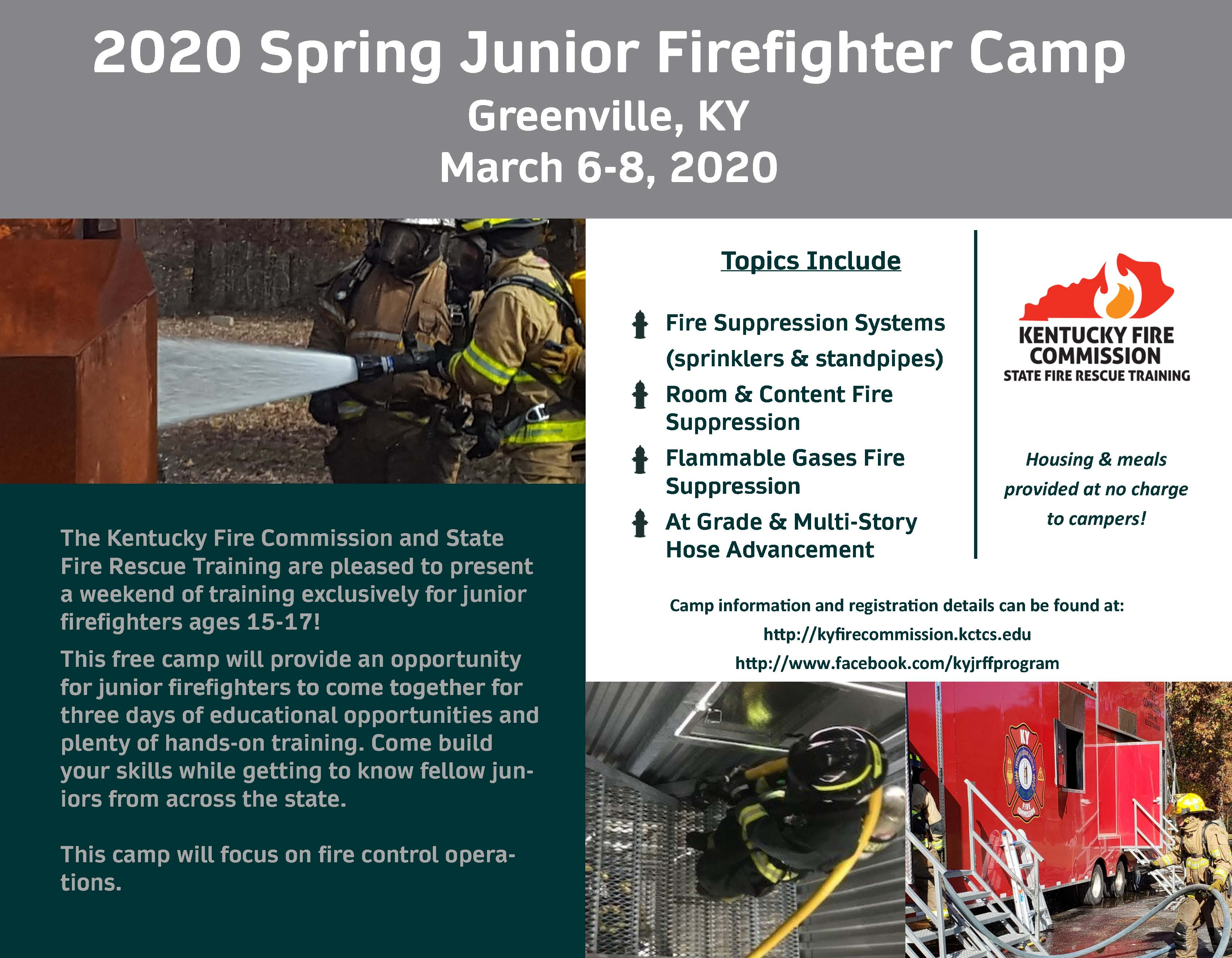 2020 Spring Kentucky Junior Firefighter Camp